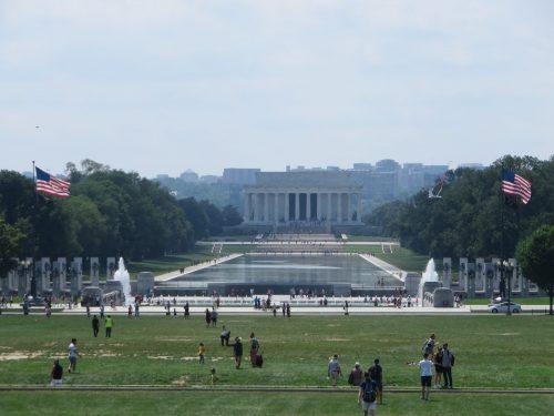 Washington DC : il Campidoglio coperto, la Casa Bianca, il temporale e gli spazi immensi